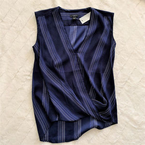 NWT! Ann Taylor blue striped sleeveless top